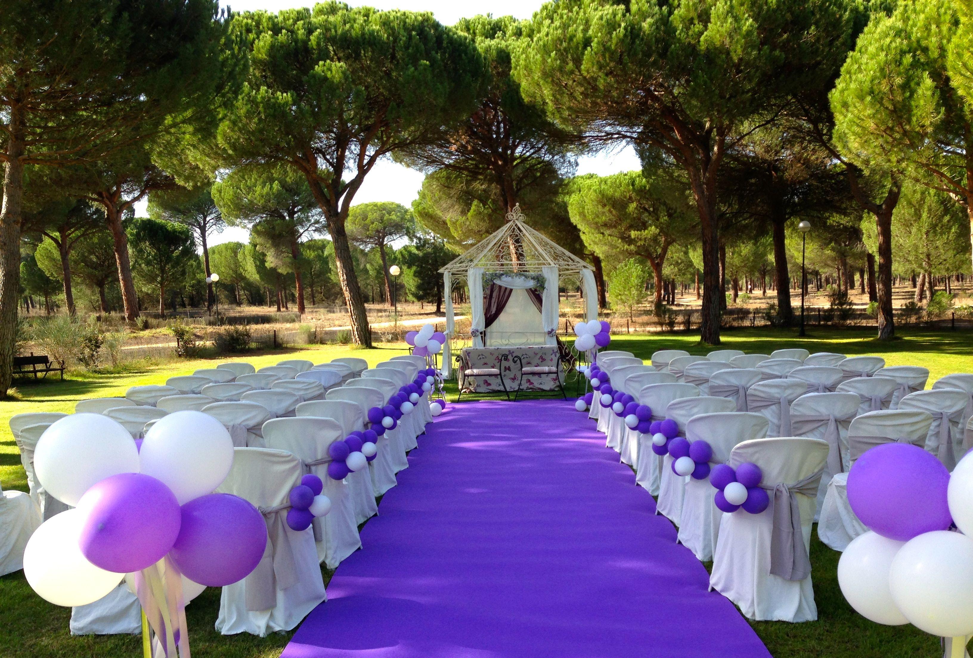 La boda de conchi y julio la posada real del pinar - Decoracion jardin boda civil ...